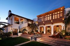 John Street Spanish Revival residence by KAA Design Space Architecture, Beautiful Architecture, Exterior Doors, Interior And Exterior, Wine House, Spanish Revival, Exterior Lighting, Custom Homes, Beautiful Homes