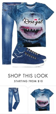 """""""ROSEGAL"""" by ajna123 ❤ liked on Polyvore featuring Diesel, Dsquared2, men's fashion and menswear"""