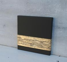 Gold leaf black gift for christmas abstract painting USA Canada acrylic contemporary art impasto original gold painting präsent Gold Acrylic Paint, Acrylic Painting Canvas, Canvas Art, Painting Abstract, Acrylic Art, Textured Painting, Art Texture, Texture Images, Feuille D'or