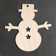 10 x Wooden Snowman Christmas Decorations Gift Tags Rustic Hanging Craft Shapes | eBay
