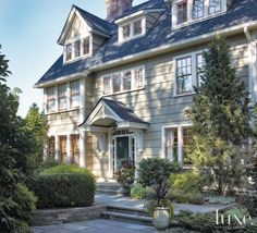 Designs by Sundown is a 2020 Gold List honoree featured in Luxe Interiors + Design. See more of this design professional's projects. Cedar Shakes, Mansions Homes, Classic House, House Front, Front Porch, Architecture Details, Curb Appeal, House Tours, Future House