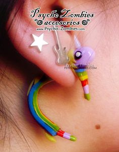 Lady Rainicorn adventure time stud earring fake by psychozombies, $30.00