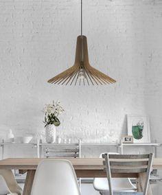 a simple but beautiful wood pendant light - handmade ceiling hanging light - modern lamp - design art decor #DEZAART #Contemporary #pendantlight #pendantlighting #chandelier #art #design #decor #modern #wood
