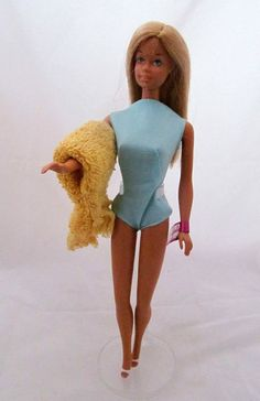1971 Vintage Malibu Barbie Doll with Repro Clothing Wrist Tag Mattel DEBOXED #IndianaPacers