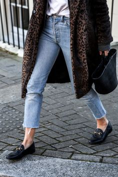 leopard + loafers