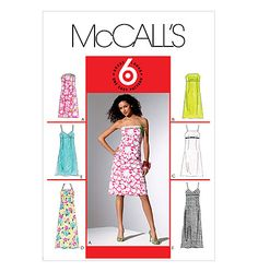 Size Misses' Easy Spaghetti Strap or Bustier Empire Waist Fitted Dress Sewing Pattern - McCalls Mccalls Sewing Patterns, Yellow Sweater, Peasant Blouse, Petite Dresses, African Fabric, Spaghetti Strap Dresses, A Line Skirts, Discount Rugs, Discount Shoes