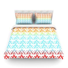 East Urban Home Antilops Pattern Chevron by Frederic Levy-Hadida Featherweight Duvet Cover Size: