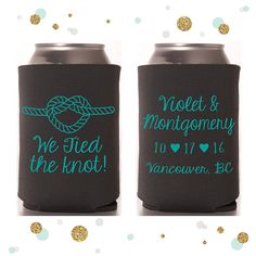 We Tied the Knot  Wedding Can Cooler 18  by SycamoreStudiosCa