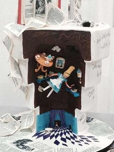Most amazing cake EVER.  /// Cake Wrecks - Home - Sunday Sweets That Defy Gravity