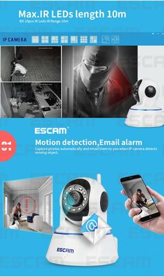 Escam 720P QF002 Indoor Network WIFI IP Camera infrared support P2P IR-Cut Smartphone H.264 Pan/Tilt PT Wireless MAX 32G TF Card  http://playertronics.com/products/escam-720p-qf002-indoor-network-wifi-ip-camera-infrared-support-p2p-ir-cut-smartphone-h-264-pantilt-pt-wireless-max-32g-tf-card-2/
