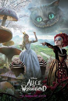 Official poster for Tim Burton's Alice in Wonderland