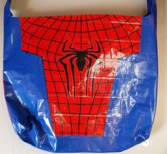 Spiderman duct tape bag