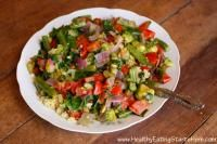 Warm Quinoa Salad With Lime, Garlic And Ginger