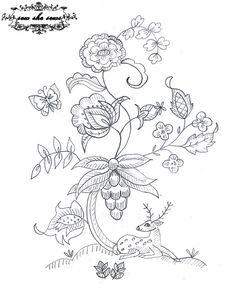 Deer embroidery pattern by joomoolynn, via Flickr