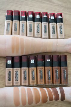 Loreal Infallible Foundation Shades, Superstay Maybelline, Fall Makeup, Summer Makeup, Makeup Swatches, Lip Stain, Makeup Essentials, L'oréal Paris, Makeup Foundation