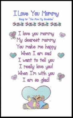 Happy Mothers Day Quotes From Son & Daughter : QUOTATION – Image : As the quote says – Description Short mothers day poems for mum from daughter and son to dedicate all mom's in the world. These are the best poems to express your love. Short Mothers Day Poems, Happy Mothers Day Poem, Mother Poems, Short Poems, Mothers Day Crafts For Kids, Mothers Day Cards, Mothers Day Poems Preschool, Mother Song, Mom Song