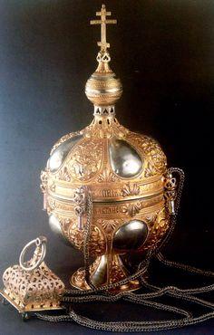 Кадило. Кострома, 1674. Серебро, чеканка, позолота.