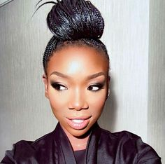 She makes me want to get micro braids again! - Love it!