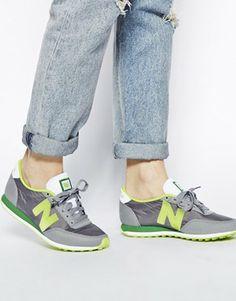 new balance grey and green