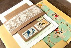 Vintage Eclectic Invitation Suite from AllieRuth on etsy Boda Vintage Ideas, Vintage Diy, Vintage Floral, Vintage Colors, Vintage Style, Wedding Paper, Diy Wedding, Wedding Day, Lace Wedding