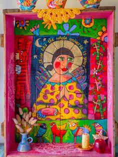 Mexican Artwork, Mexican Folk Art, Latino Art, Polish Folk Art, Desert Art, Southwest Art, Naive Art, Sacred Art, Religious Art