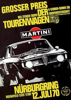 1970 Touring Car Grand Prix - Nurburgring - Alfa Romeo GTA - Promotional Poster #alfaromeogta