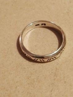 Vikinge ring 4 Sølv  160 kr