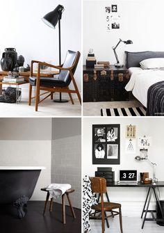 preto branco madeira