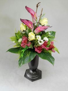 Christmas Floral Designs, Gladioli, Calla Lillies, Funeral Flowers, Casket, Projects, Plants, Home Decor, Log Projects