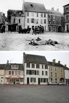 Ghosts of War - France; Square cleared Then & Now | by Jo Hedwig Teeuwisse