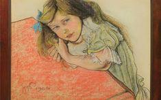 Stanislaw Wyspianski - Portrait of Helenka Sternbach, 1904 Pictures At An Exhibition, Modern Art, Art Blog, Portrait Drawing, Painter, Female Sketch, Art, Art And Architecture, Portrait