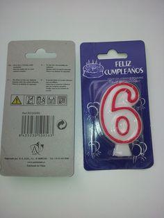 "Ambientair : velita de cumpleaños "" seis """
