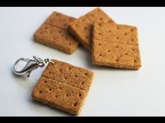 Charm Size Graham Cracker Tutorial, Miniature Food Tutorial, Polymer Clay
