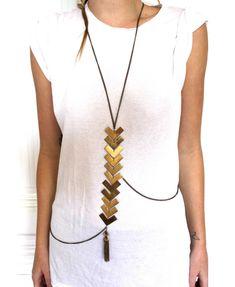 bohemian body necklace boho accessories