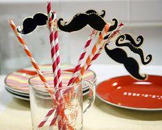 Cool straws with funny mustache.. @Claren Truelove