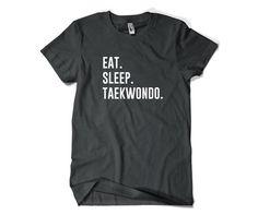 Taekwondo Shirt-Eat Sleep Taekwondo Tshirt by SuperCoolTShirts