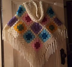 Granny Hooded Poncho - Free any size crochet pattern by Julie Peirce.