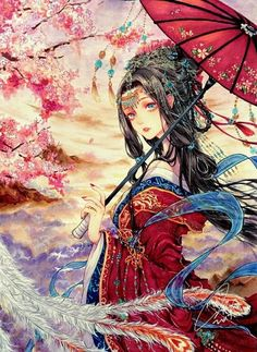 "Título: ""Apenas um simples sorriso já é muito fascinante""; Love O2O. … #romance # Romance # amreading # books # wattpad Anime Fantasy, Fantasy Girl, Manga Girl, Anime Art Girl, Character Art, Character Design, Geisha Art, Anime Style, Chinese Art"