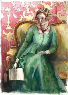 Painting of Lady Edith ~ Downton Abbey