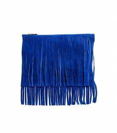 ASOS Suede Fringe Clutch Bag ($56)