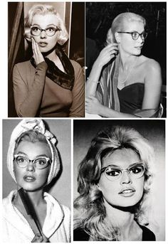 Vintage glasses. Bombshells in spectacles. http://www.facebook.com/optykwnecie