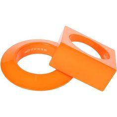 Maison Margiela Bracelet (26.385 RUB) ❤ liked on Polyvore featuring jewelry, bracelets, orange, orange jewelry, maison margiela and orange bangles