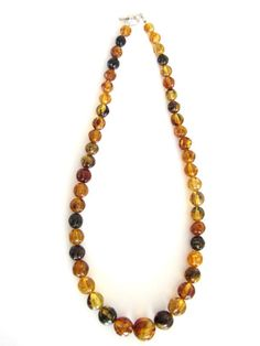 Strand of Mexican amber necklace from Chiapas, Mexico