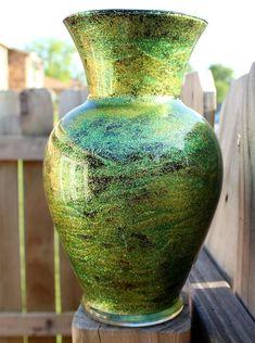 DIY shimmery glitter vase - Mod Podge Rocks