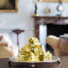 Delicious gourmet marshmallows, swirled with white chocolate and covered with roasted pistachio pieces. These handmade mallows make a wonderful after-dinner treat or the perfect cocktail accompaniment... try them for yourself at Yumbles.com...