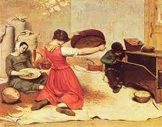 """""""Las cribadoras de trigo"""", Coubert. Año 1854. Se encuentra en el Museo de Bellas Artes de Nantes."""