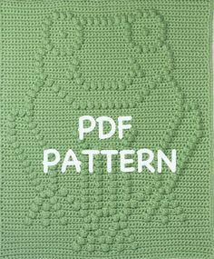 Frog Baby Blanket Pattern  Crochet Pattern  Crochet by TheBabyCrow, $3.90