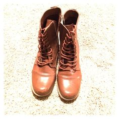 NWOT FOREVER21 Combat Boots Never worn Forever 21 combat boots! Smoke free home! Forever 21 Shoes Combat & Moto Boots