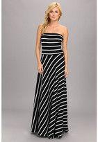 black and white striped strapless dress-brigitte bailey natalie stripe maxi dress