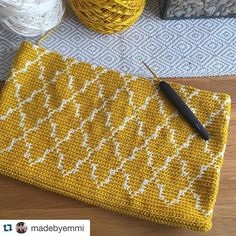 Repost Madebyemmi With Repostapp. Filet Crochet, Crochet Wallet, Crochet Clutch, Crochet Pillow, Crochet Handbags, Crochet Poncho, Crochet Purses, Crochet Chart, Crochet Motif
